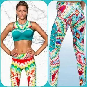COPY - Luli Fama L legging and bra set NWT